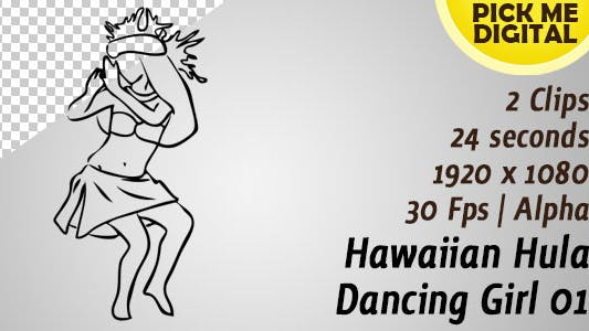 Hawaiian Hula Dancing Girl 01