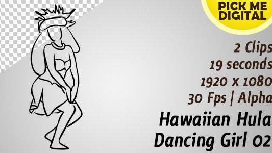 Hawaiian Hula Dancing Girl 02