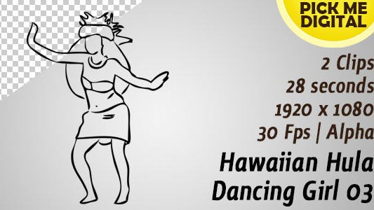 Hawaiian Hula Dancing Girl 03