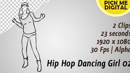 Thumbnail for Hip Hop Dancing Girl 02