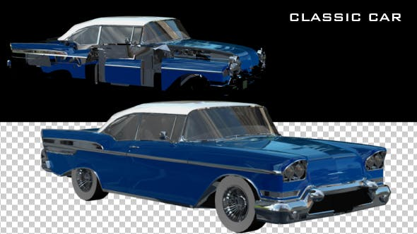 Thumbnail for Classic Blue Car Transforming