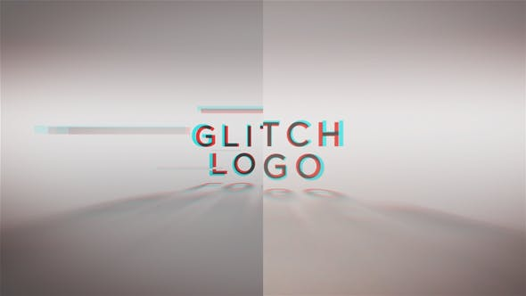 Thumbnail for Glitch Words Logo Reveal | 2 versions