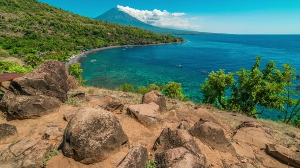 Thumbnail for Scenic View of Agung Volcano and Sea From Amed Village, Bali, Indonesia