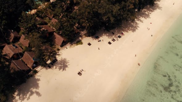 Thumbnail for Thailand Coral Island Drone Shot A View of the Corals Surrounding the Island From a Height of 100