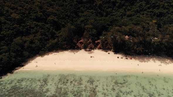Thumbnail for Thailand Coral Island Drone Shot A View of the Corals Surrounding the Island