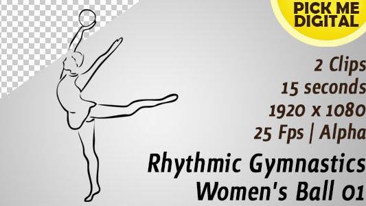 Ballon de gymnastique rythmique pour femme 01