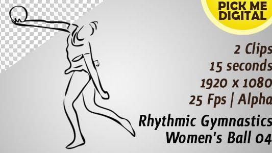 Ballon de gymnastique rythmique pour femme 04
