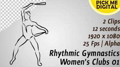 Clubs Femme Gymnastique Rythmique 01