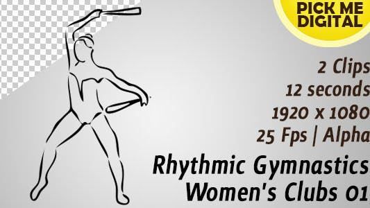 Thumbnail for Rhythmic Gymnastics Women's Clubs 01