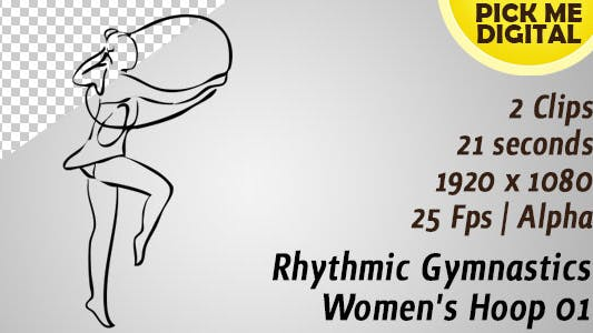 Rythmique Gymnastique Cerceau Femme 01