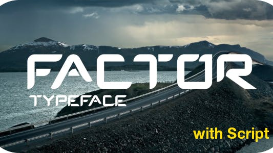 Thumbnail for Factor Typeface