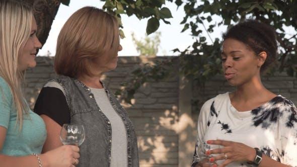 Women Talking on Family Party