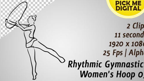 Rythmique Gymnastique Hoop 03 Femme