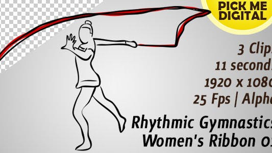 Thumbnail for Rhythmic Gymnastics Women's Ribbon 01