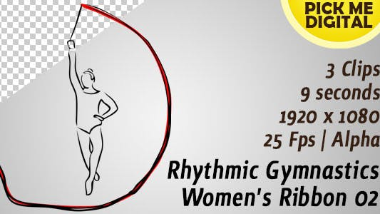 Thumbnail for Rhythmic Gymnastics Women's Ribbon 02
