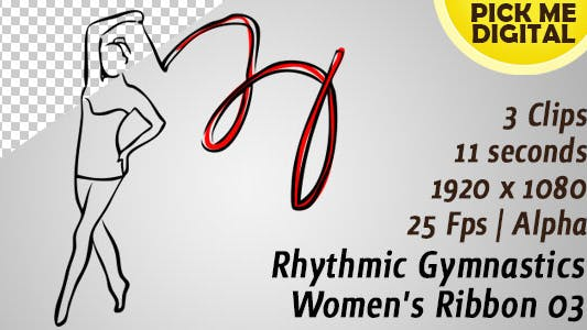Ruban de gymnastique rythmique femme 03