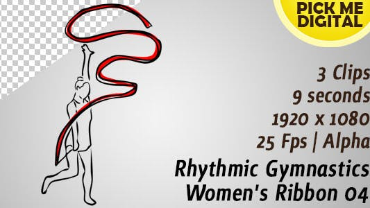 Thumbnail for Rhythmic Gymnastics Women's Ribbon 04