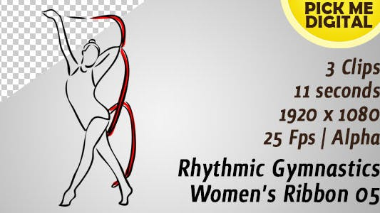 Thumbnail for Rhythmic Gymnastics Women's Ribbon 05