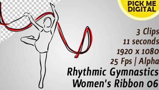 Ruban de gymnastique rythmique femme 06