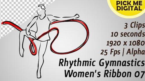 Ruban de gymnastique rythmique pour femme 07