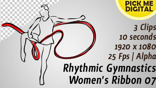 Thumbnail for Rhythmic Gymnastics Women's Ribbon 07