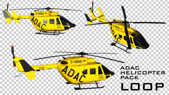 Thumbnail for ADAC Rescue Helicopter - 3 Pack