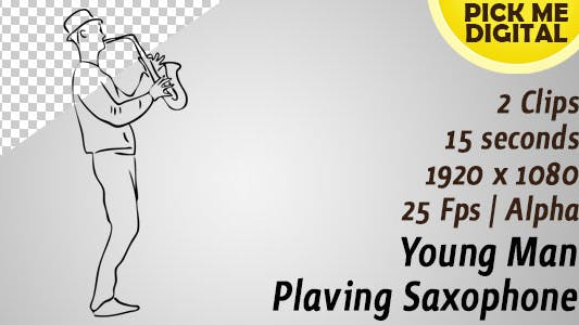 Cover Image for Young Man Playing Saxophone
