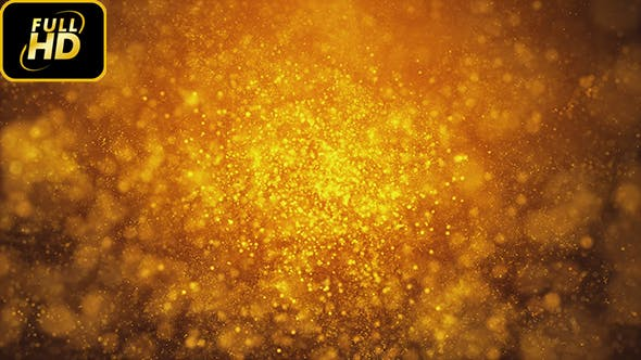 Thumbnail for Golden Particles Magical Background Loop