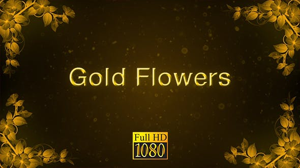 Thumbnail for Gold Flowers Background