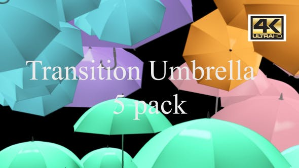Thumbnail for Umbrella Colorful Transition 4K