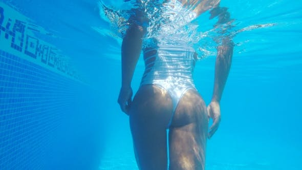 Thumbnail for Crop Sexy Woman Underwater