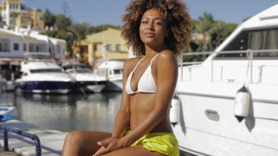 Thumbnail for Wonderful Fit Woman on Seashore