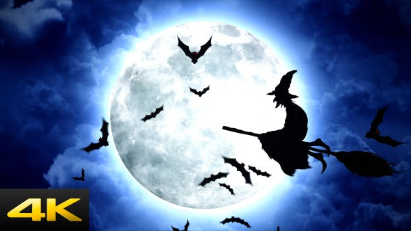 Thumbnail for Halloween Witches Flying