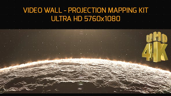 Thumbnail for Moon Video Wall Mapping 4K