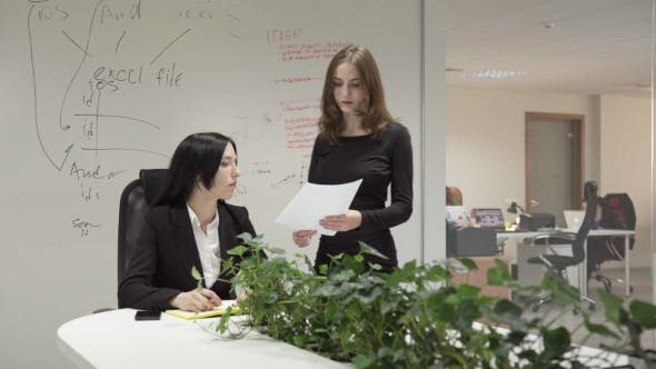 Thumbnail for Woman Shows Documents To Her Boss