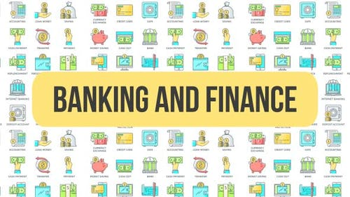 Banking And Finance - Animated Icons