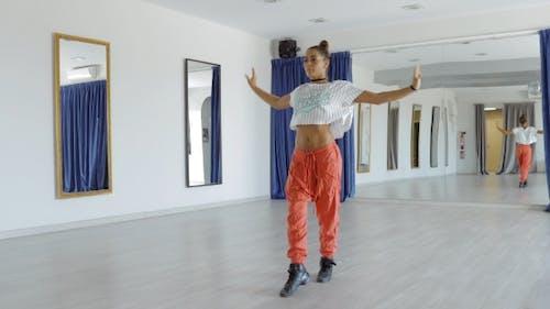 Passionate Dancer in Studio