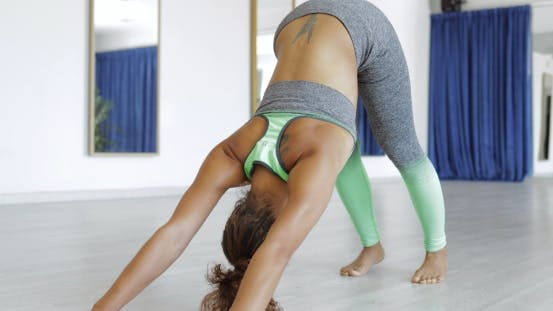 Thumbnail for Woman Practicing Yoga in Studio