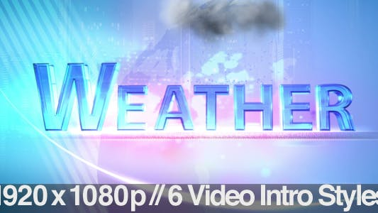 Thumbnail for TV News Program Segment - Weather - 6 Styles