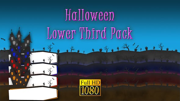 Thumbnail for Halloween Lower Third Pack