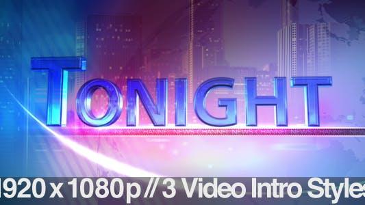 Thumbnail for TV News Program Segment - Tonight - 3 Styles
