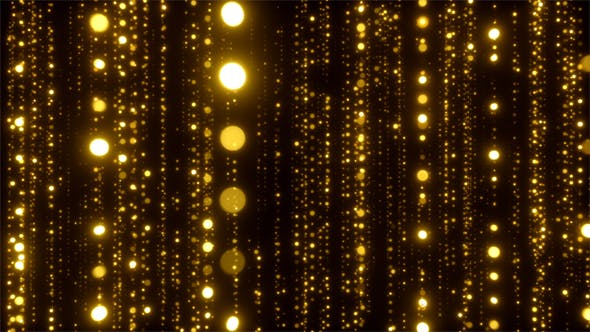 Cover Image for Elegant Golden Particles