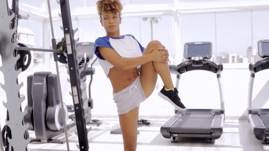 Cover Image for Young Girl Training in Modern Gym