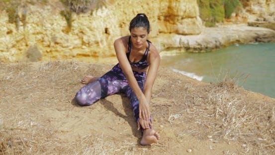 Thumbnail for Sportive Girl Training on Shoreline