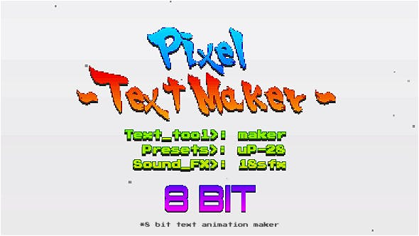 Thumbnail for Arcade Text Maker 8bit Glitch Titles