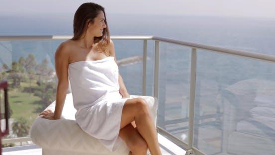 Thumbnail for Girl Posing on Hotel Terrace