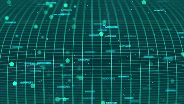 Thumbnail for Digital Cyan Grid