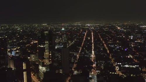 Aerial Night Scenic View of Cityscape