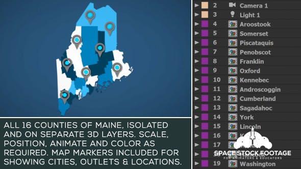Maine Map Kit