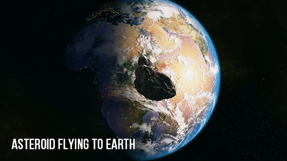 Asteroid Flying To Earth